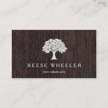 tree logo wood rustic nature business card