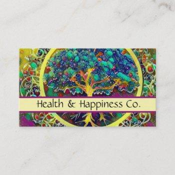 tree of life rainbow health business card