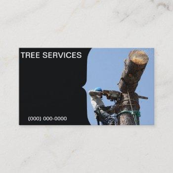 tree service business card template