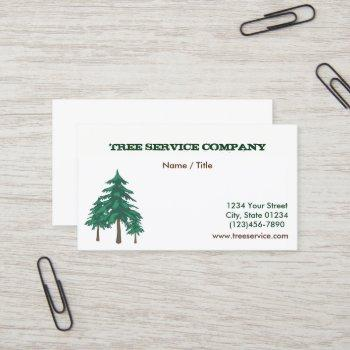 tree service single sided business card
