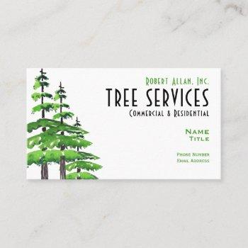 "tree services standard, 3.5"" x 2.0"" business card"