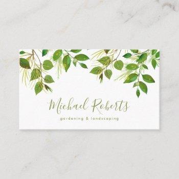 tree surgeon | gardening & landscaping business card