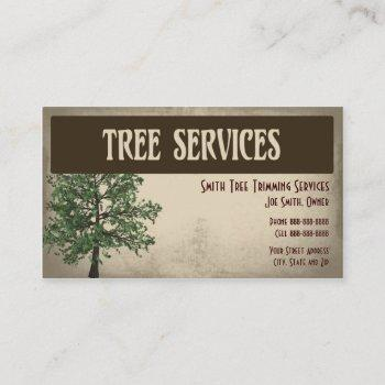 tree trimming care services business card