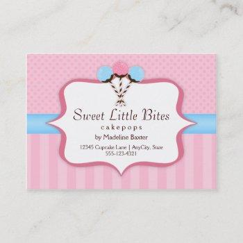 trendy cake pop bakery business cards