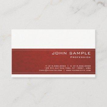 trendy creative professional modern design classy business card