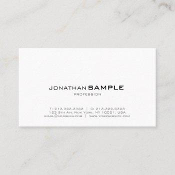 trendy elegant modern minimalistic design business card