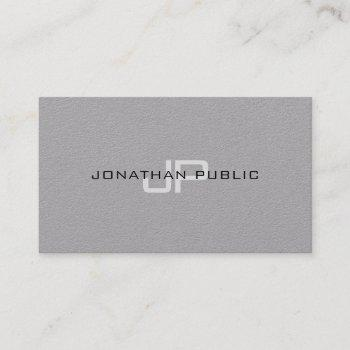 trendy elegant monogram minimalist plain luxury business card