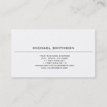 trendy fashion plain black white business card