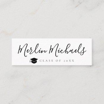 trendy graduation name insert card