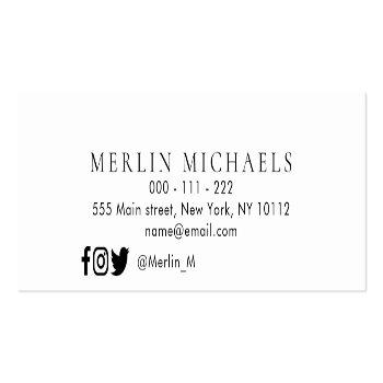 Small Trendy Graduation Name Insert Card Back View