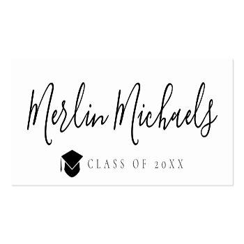 Small Trendy Graduation Name Insert Card Front View