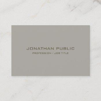 trendy minimalist modern elegant simple template business card