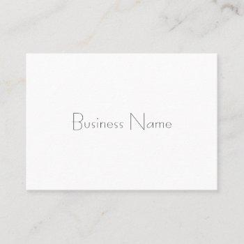 trendy minimalist template professional elegant business card