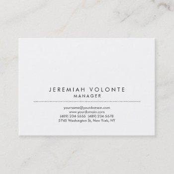 trendy minimalist white professional artwork business card