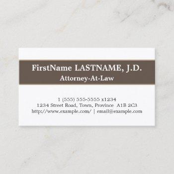 trendy & sleek attorney-at-law business card