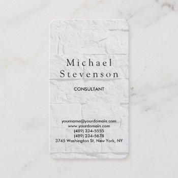 trendy wall brick rounded corner business card