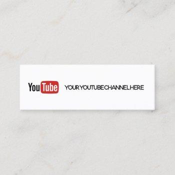 trendy youtube mini business card