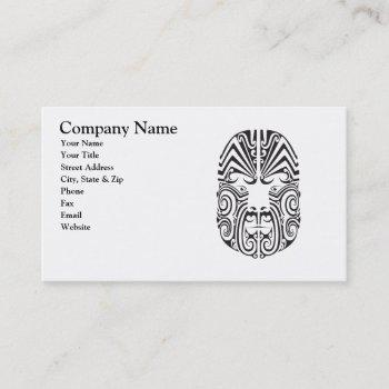tribal tattoo face business card