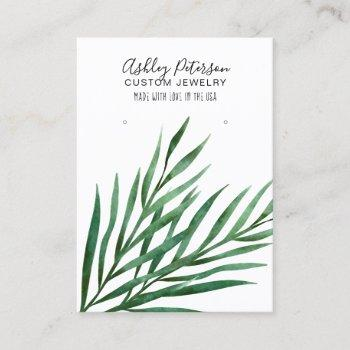 tropical palm  jewelry earring display business card