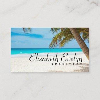 tropical paradise business card