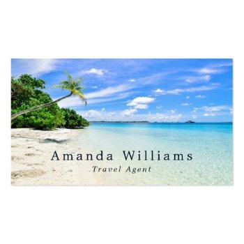 Small Tropical Vacation, Travel Agent Business Card Front View