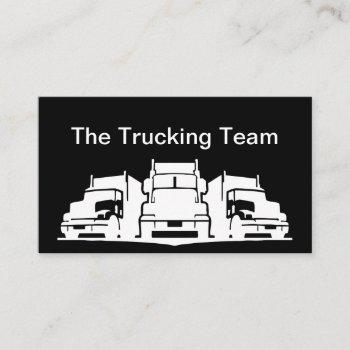 truck driver business cards