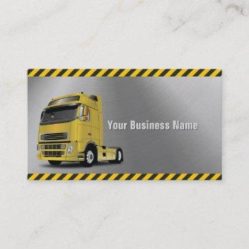truck driver metal professional business card