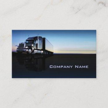 truck - transportation & logistics business card