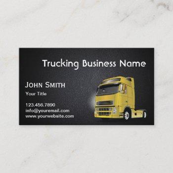 trucking towing professional dark leather business card