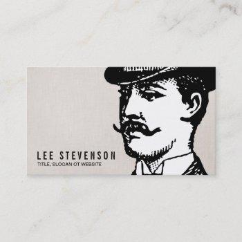 true gentleman card vintage hipster linen look