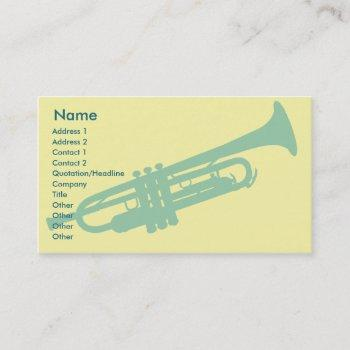 trumpet - business business card