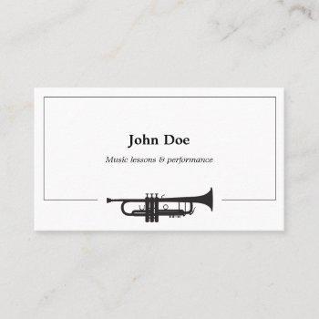 trumpet business card
