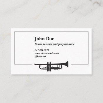 trumpet illustration  business cards