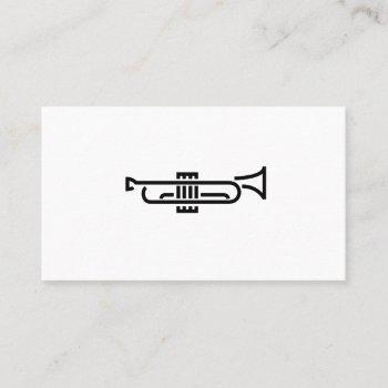 trumpet logo - business card