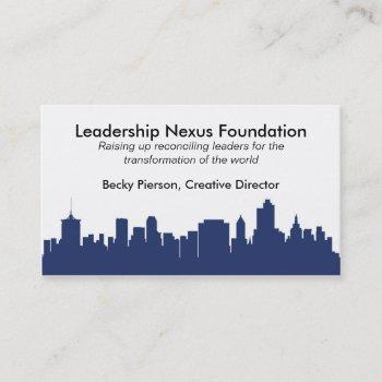 tulsa skyline business card