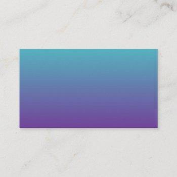 turquoise purple ombre business card