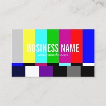 tv spectrum film editor video production business card