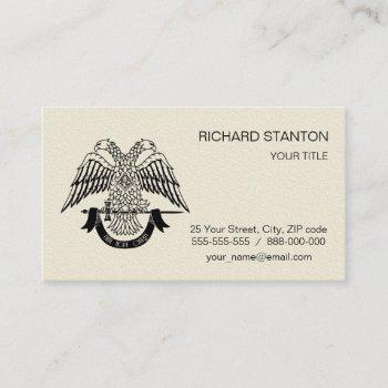 two-headed eagle as masonic symbol business card