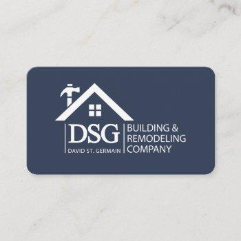 two sided remodeling business card