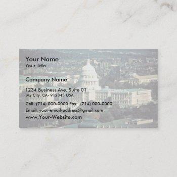 u.s. capitol business card