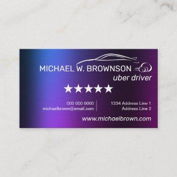 uber driver automobile service car business card