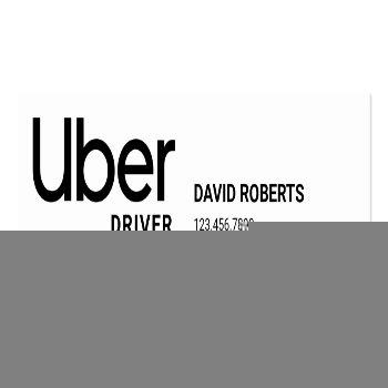 Small Uber Driver Promo Code Referral Mini Business Card Back View
