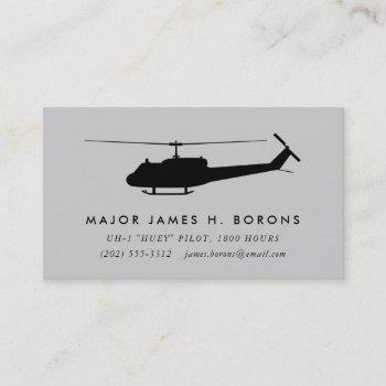 uh-1 huey pilot business card with pattern