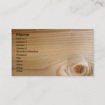 unfinished wood business card
