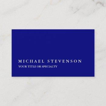 unique modern navy blue business card
