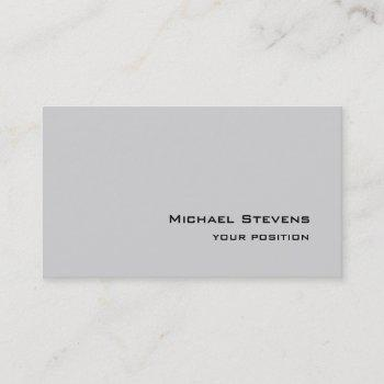 unique trendy light gray professional business card