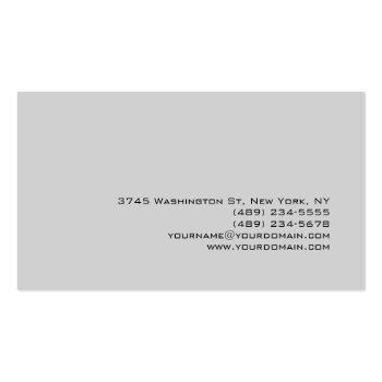 Small Unique Trendy Light Gray Professional Business Card Back View