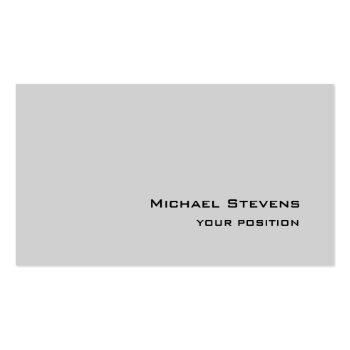 Small Unique Trendy Light Gray Professional Business Card Front View
