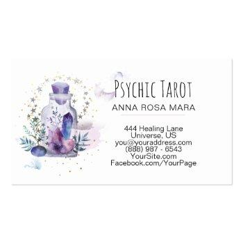 Small *~*  Universe Cosmos Stars Crystals Psychic Tarot Business Card Back View