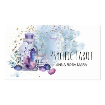 Small *~*  Universe Cosmos Stars Crystals Psychic Tarot Business Card Front View